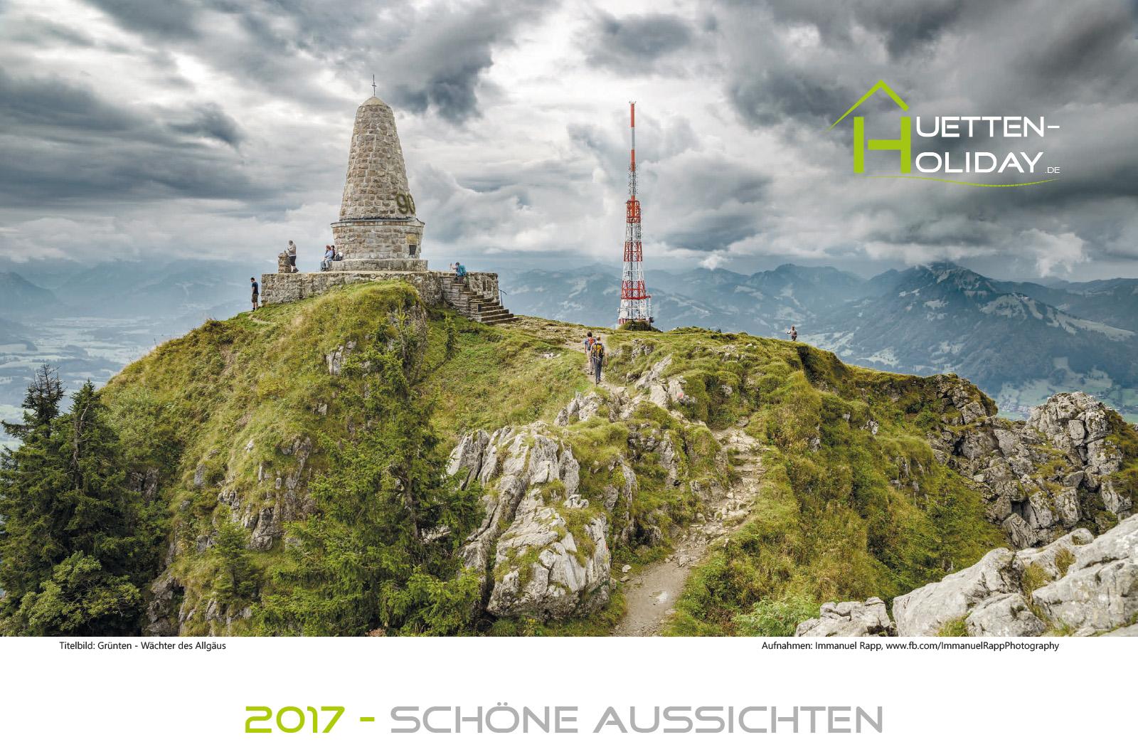 2016 Huettenholiday Wandkalender 2017 A3 quer.indd